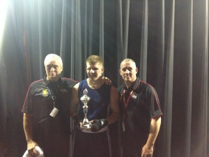 Luke with coaches Dennis Jarvis & Andy Wilford