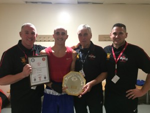 Jack with Coaches Andy Wilford, Dennis Jarvis & Jamie Carter.
